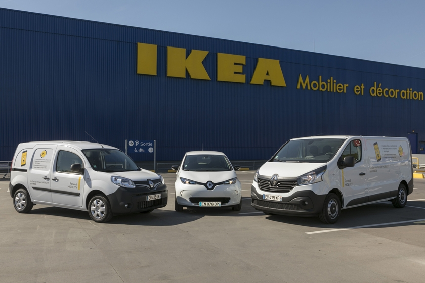 Renault MOBILITY provides a car-sharing vehicle service to IKEA France