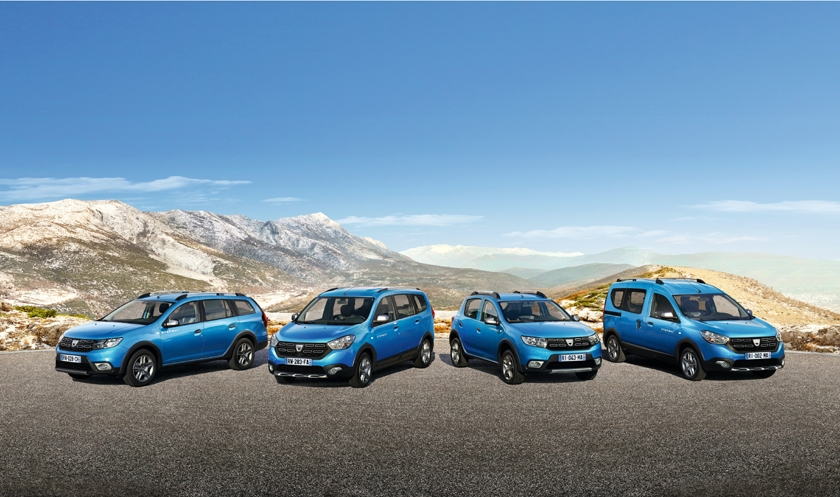 Now we are four! The Stepway family welcomes the new Dacia Logan MCV Stepway