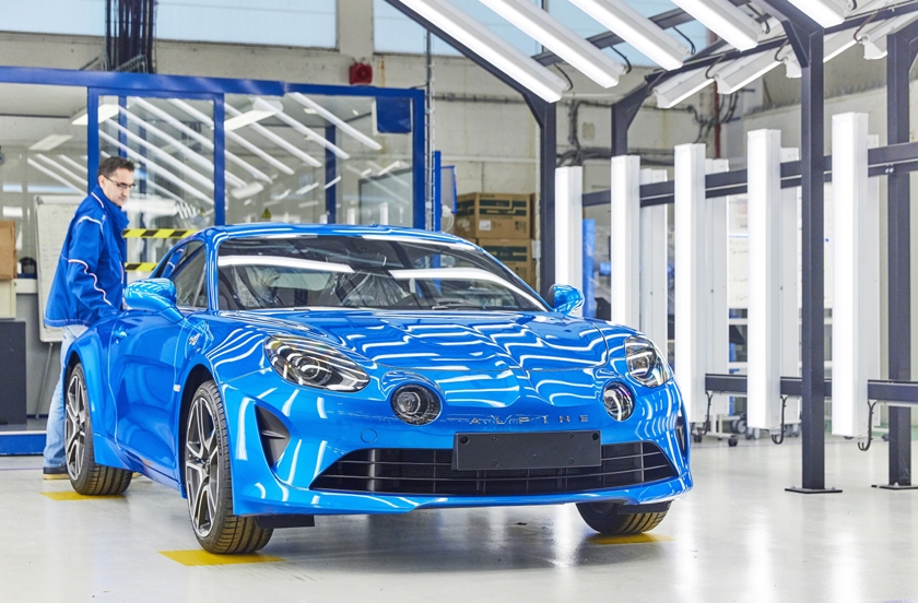 Groupe Renault inaugurates new Alpine A110 production line in Dieppe, France