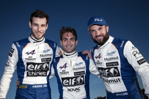 The Signatech Alpine Matmut team all set to go in the FIA World Endurance Championship