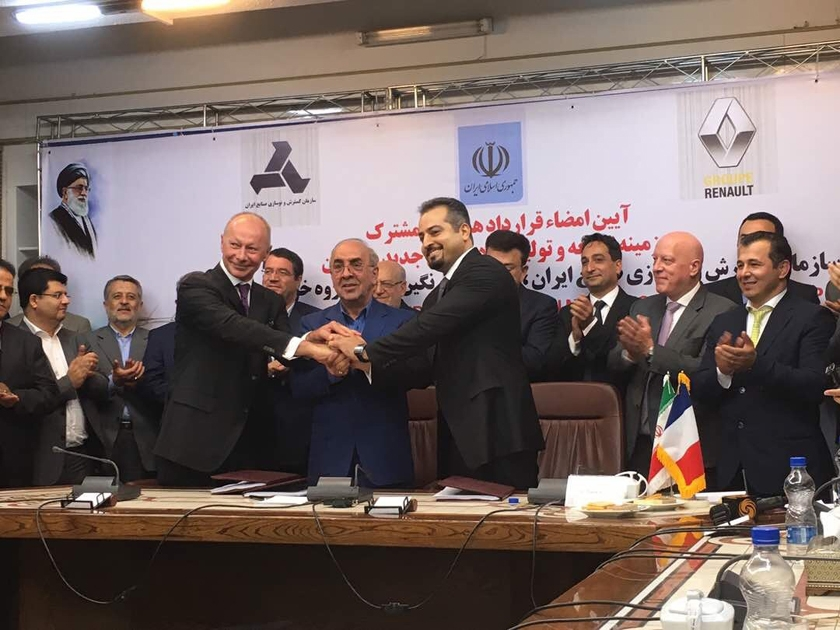 Groupe Renault signs a new joint venture in Iran