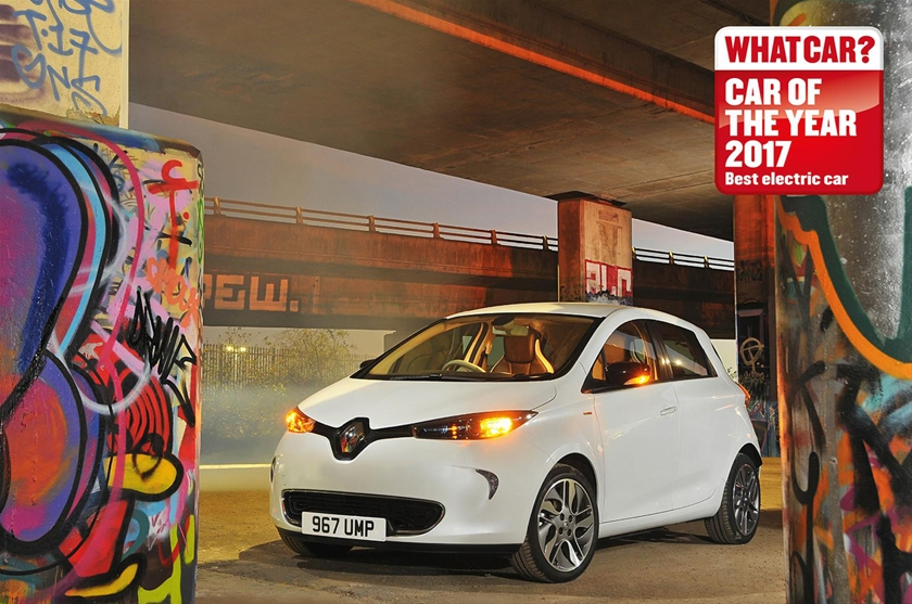 ZOE named Best Electric Car as it wins for the fourth consecutive Year at What Car ? Awards 2017